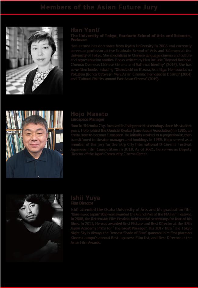 Members of the Asian Future Jury